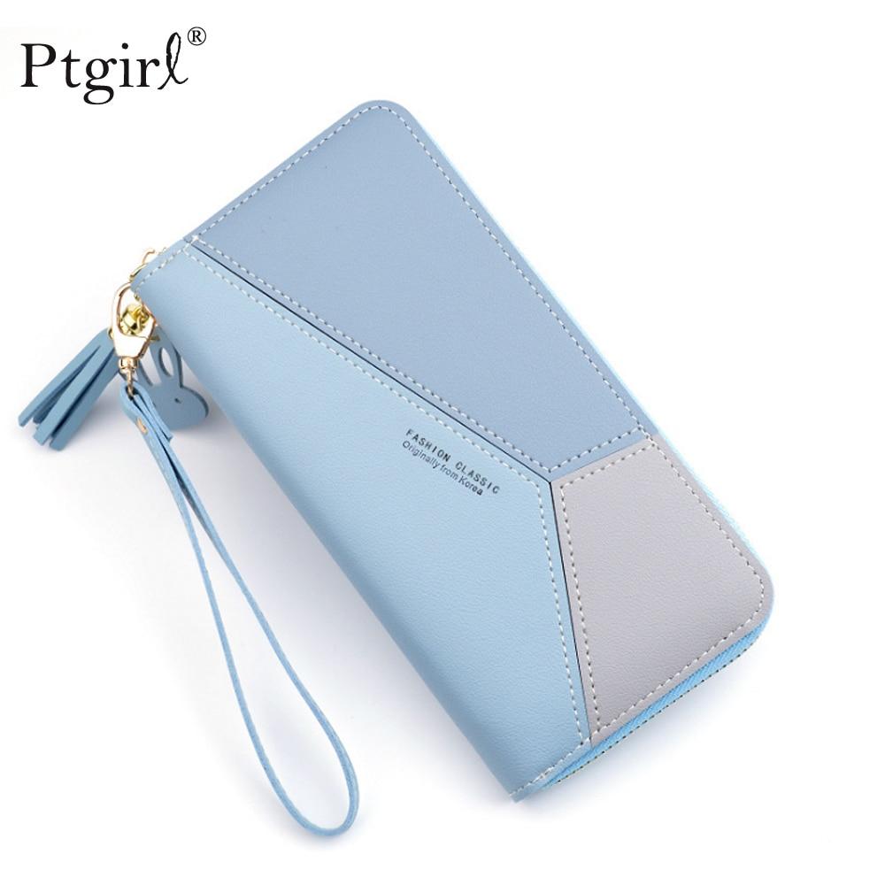 Women Lady Zip Canvas Clutch Coin Phone Card Holder Bag Long Purse Wallet US