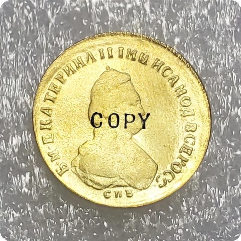 1779 Россия 5 рубль Золотая копия монеты Безвалютные монеты      АлиЭкспресс