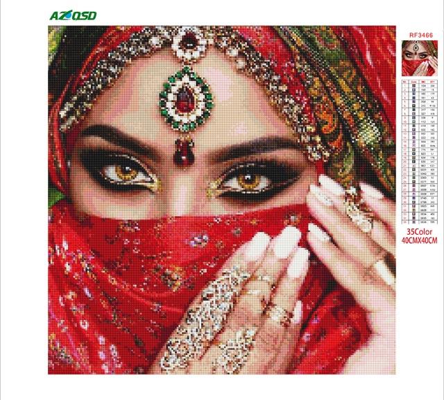 Фото azqsd алмазная вышивка женщина рукоделие мозаика люди картина