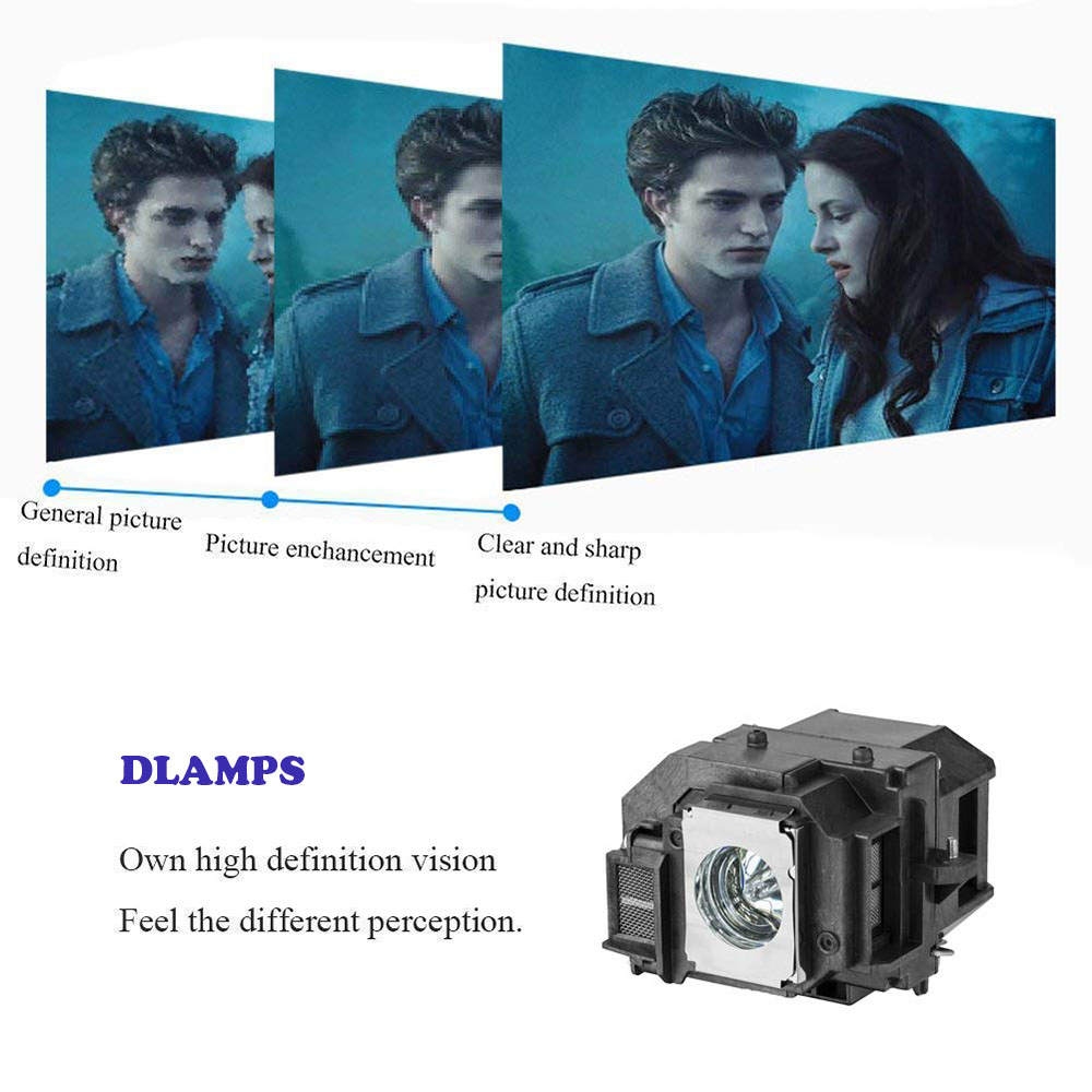 Image 4 - Replacement Projector Lamp for ELPLP54 V13H010L54 for EPSON 705HD S7 W7 S8+ EX31 EX51 EX71 EB S7 X7 S72 X72 S8 X8 S82 W7 W8 X8e-in Projector Bulbs from Consumer Electronics