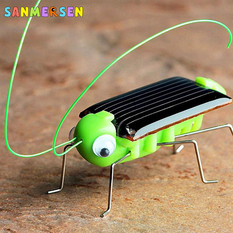 2020 Solar Grasshopper Educational Solar Powered Grasshopper Robot Toy Required Gadget Gift Solar Toys No Batteries For Kids