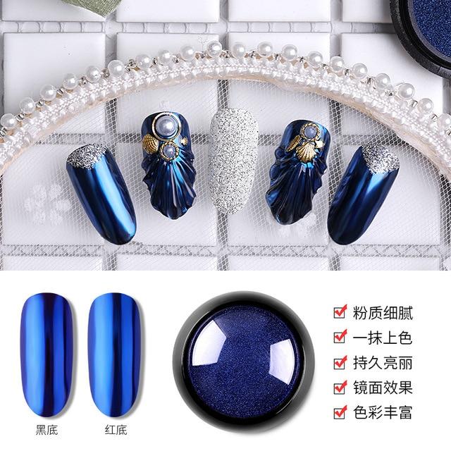 Фото волшебная зеркальная пудра 12 цветов мелкая металлическая с цена