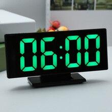 LED Spiegel Digitale Wecker Elektronische Uhr Tisch Multifunktions Snooze Nacht Display Desktop Alarm Uhren 12/24-stunde System