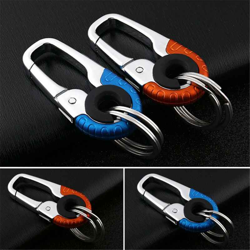 1PCS Durable Car Keychain Hook Metal Buckle Carabiner Climbing Tools Double Ring
