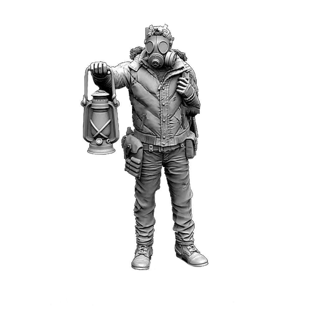 1/35 <font><b>Resin</b></font> Figure Assembly Kit Carrying Lantern Pathfinder <font><b>Soldier</b></font> Model Model Self-assembled <font><b>Resin</b></font> <font><b>Resin</b></font> White <font><b>Soldier</b></font> Orn H9E4 image