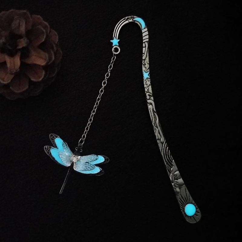 DIY Luminous Bookmarks Creative Glow In The Dark Butterfly Dragonfly Bookmark Book Marker Student Supply Stationery Gift