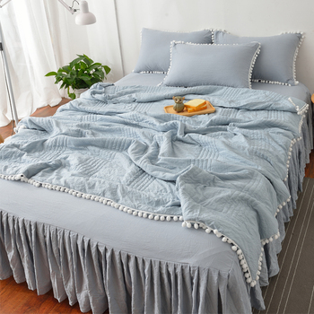 Pear flower ball thin ball quilt washed cotton summer quilt bed skirt suit wind summer cool quilt air conditioning quilt