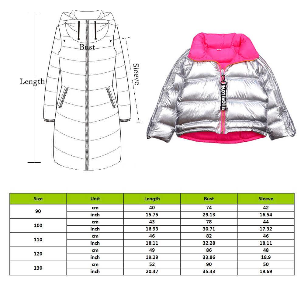 CYSINCOS בני מעיל חורף מעיל ילדים למטה כותנה מעיל עמיד למים חליפת שלג זהב כסף מעיל סלעית חם Parka בנות למטה מעילים