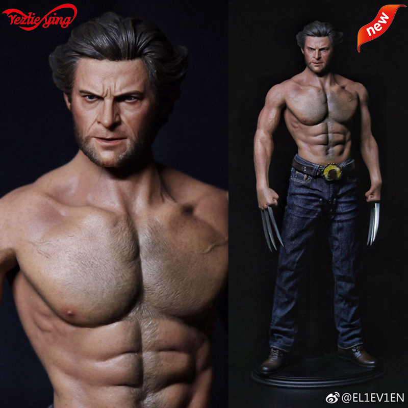 ELEVEN Wolverine Wolf Uncle Young Ed.Head Sculpture WorldBox AT012 1/6 Muscular Body Wide Shoulder Muscular Strong Male Figure