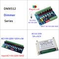 6CH/12CH DMX512 кремниевый переключатель с регулируемым затемнением цифровая силиконовая коробка доска для лампы накаливания светильник сцениче...