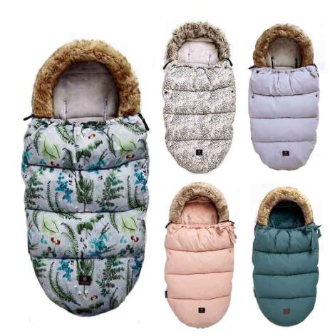 Winter Baby Stroller Sleeping Bags Warm Envelope Baby Cart Fittings Foot Cover