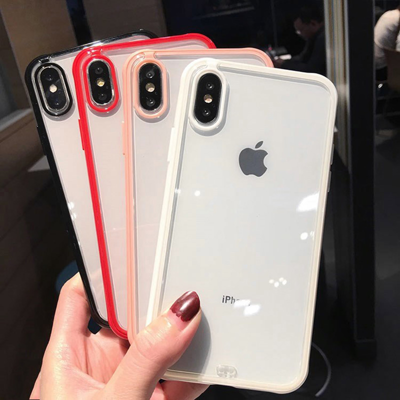 Transparent Shockproof <font><b>Bumper</b></font> Silicone Phone <font><b>Case</b></font> For <font><b>iPhone</b></font> 11 Pro <font><b>X</b></font> <font><b>XS</b></font> XR <font><b>XS</b></font> Max 6 7 8 Plus Clear Soft TPU Back Cover image