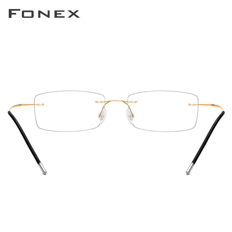 Image 5 - Rimless Titanium Alloy Glasses Frame Men Ultralight Square Prescription Eyeglasses Man Frameless Myopia Optical Frames Eyewear-in Men's Eyewear Frames from Apparel Accessories on AliExpress