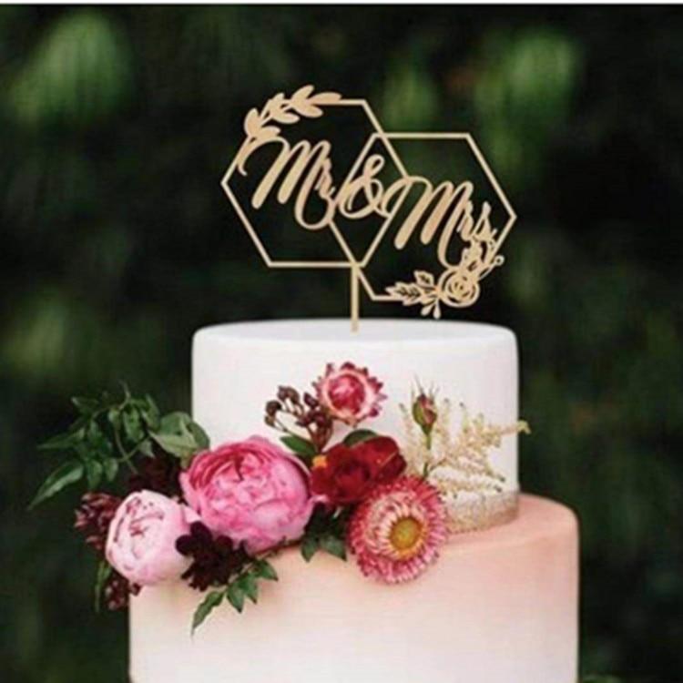 Happy Birthday Acrylic Cake Topper Flower