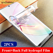 XINDIMAN Front+Back Hydrogel film for samsungNote8 Note9 Note10 soft screen protector samsungS8 S8plus S9 S9plus S10 S10plus
