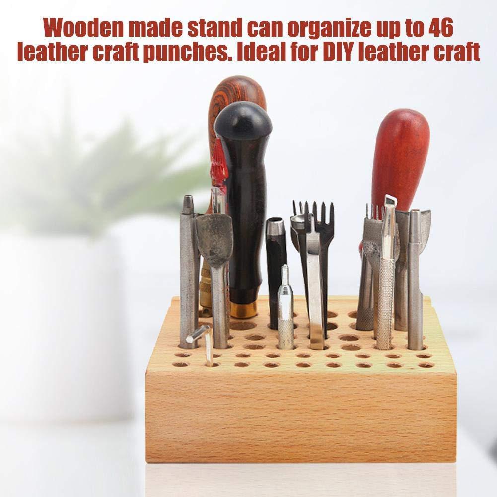Frame Brush Storage Rack Home Drill Bit Holder Mini Box Screwdriver Seat DIY 46 Hole Placement Tool Holder Professional Wood