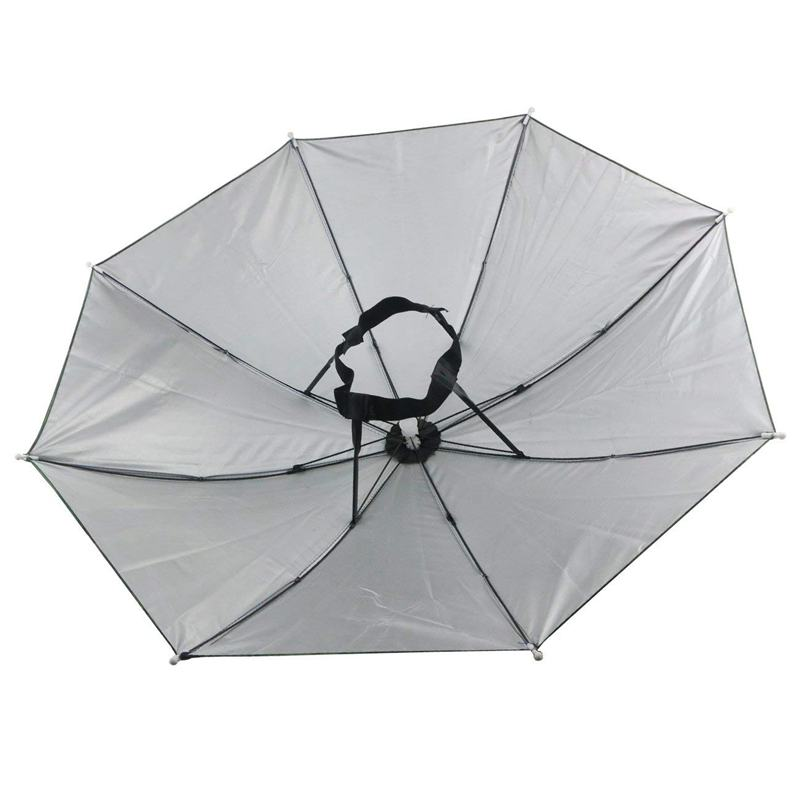 2 pces guarda chuva chapeu headwear para pesca 04