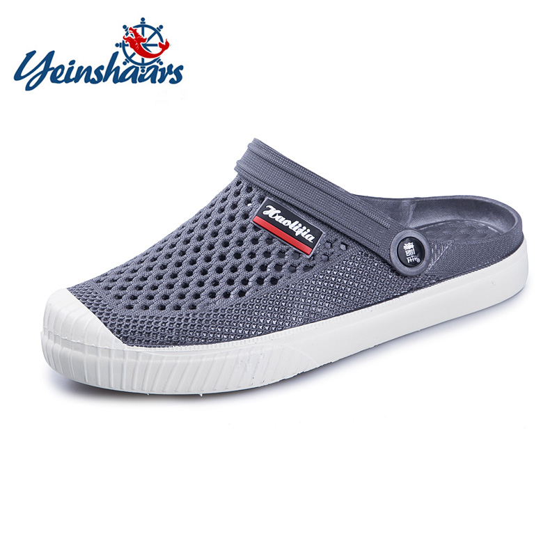 YEINSHAARS 2020 New 4 Colors Croc Shoes Men Band Sandals Summer Beach Water Swimming Mens Shoes