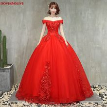 Ball-Gown Quinceanera-Dresses Party Formal Neck Long Red-Off-The-Shoulder Boat Robe-De-Soiree