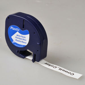 Image 2 - 10 Compatible Dymo LetraTag 91201 Black on White (12mm x 4m) Plastic Label Tapes 91201 91221 59422 S0721660