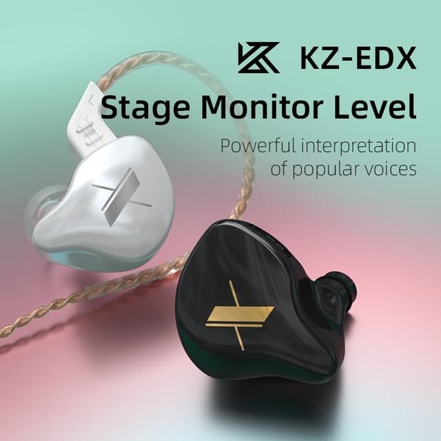 KZ EDX 1DD Dynamic Earphones HIFI Bass Earbuds In Ear Monitor Earphones Sport Noise Cancelling Headset KZ ZST X ED12 ZSX ZSN PRO 5