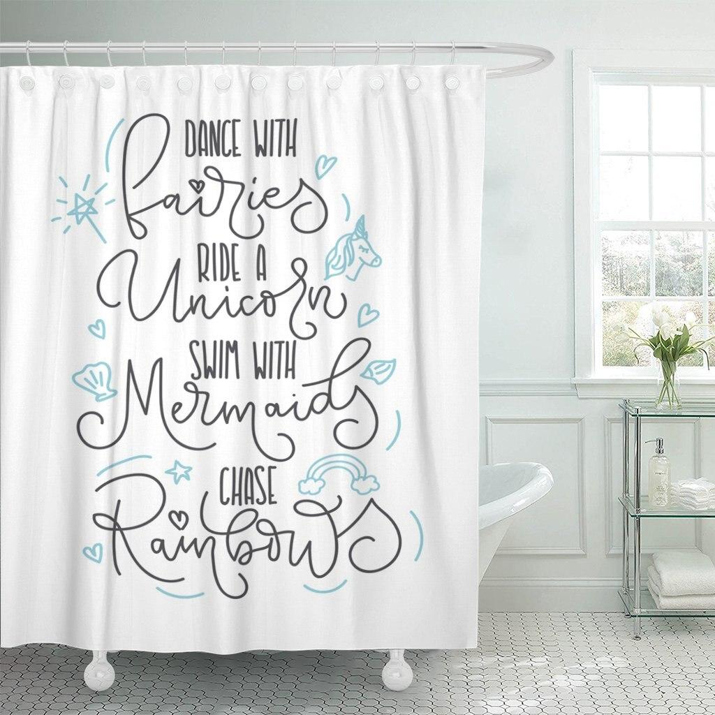 NEW Mermaid Unique Designer Fabric Shower Curtain 72 X 72  Waterproof w HOOKS