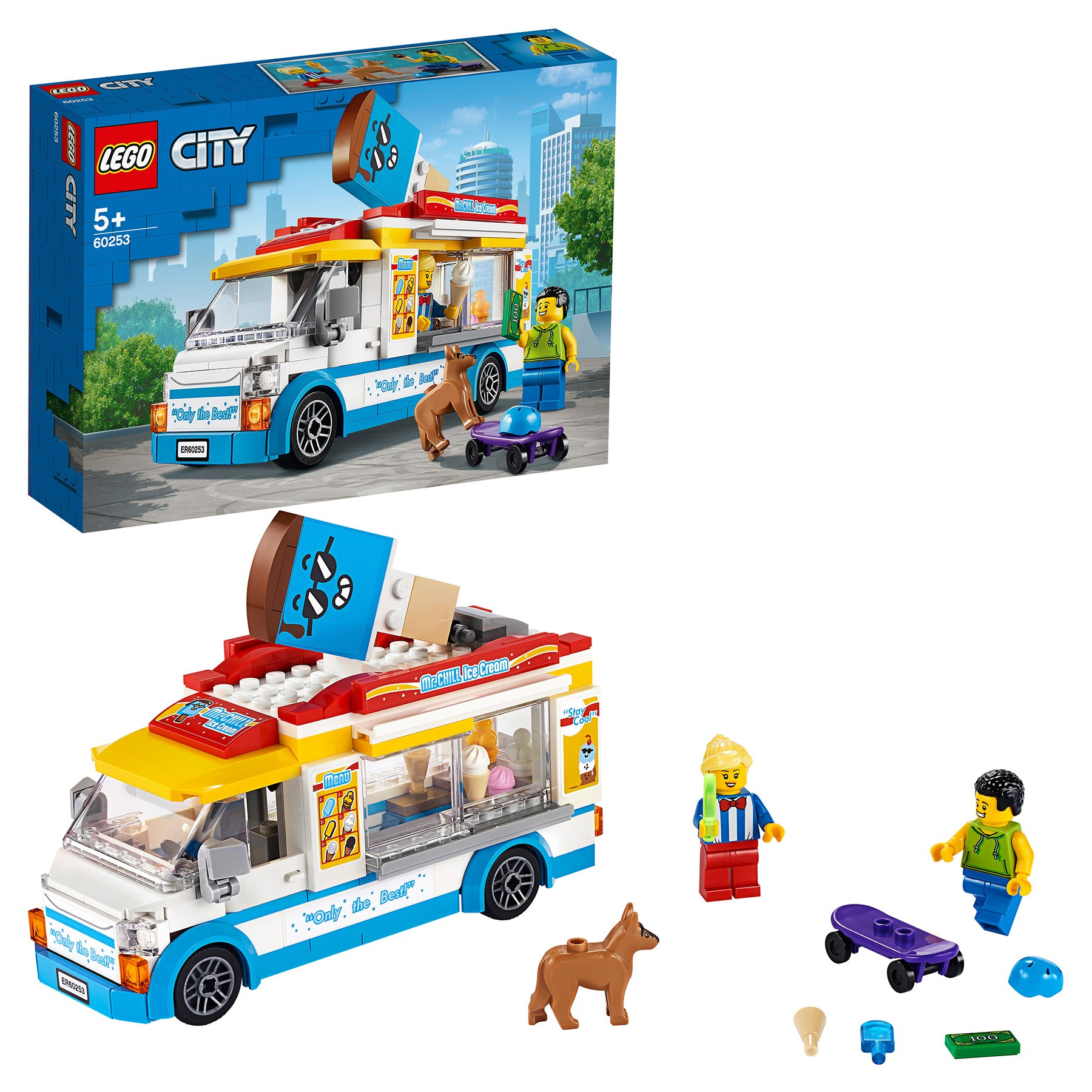 Designer Lego City Great Vehicles 60253 Truck Freezer