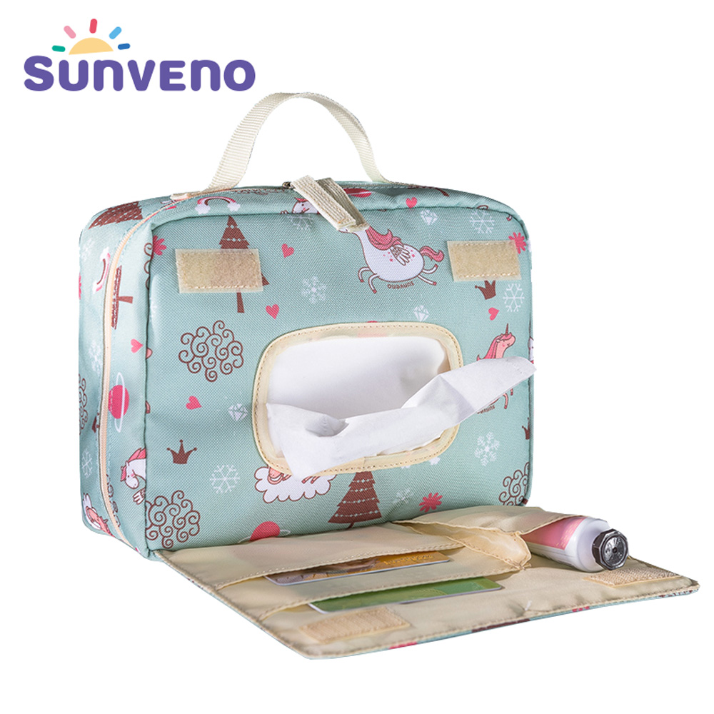 Sunveno Baby Diaper Bags Maternity Bag For Disposable Reusable Cosmetic Bag  Wet Dry Diaper Bag Handle Wetbags Makeup Bags