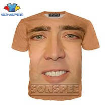 Anime 3d Print T-shirt Mannen Vrouwen Mode T-shirt Nicolas Cage Crazy Funny Staren Kid Harajuku Tees Grappige Shirts Homme tshirt A64(China)