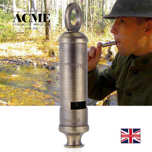 ACME police troop training whistle outdoor dedicated survival whistle solid polished brass Metropolitan 15 fire rescue whistle