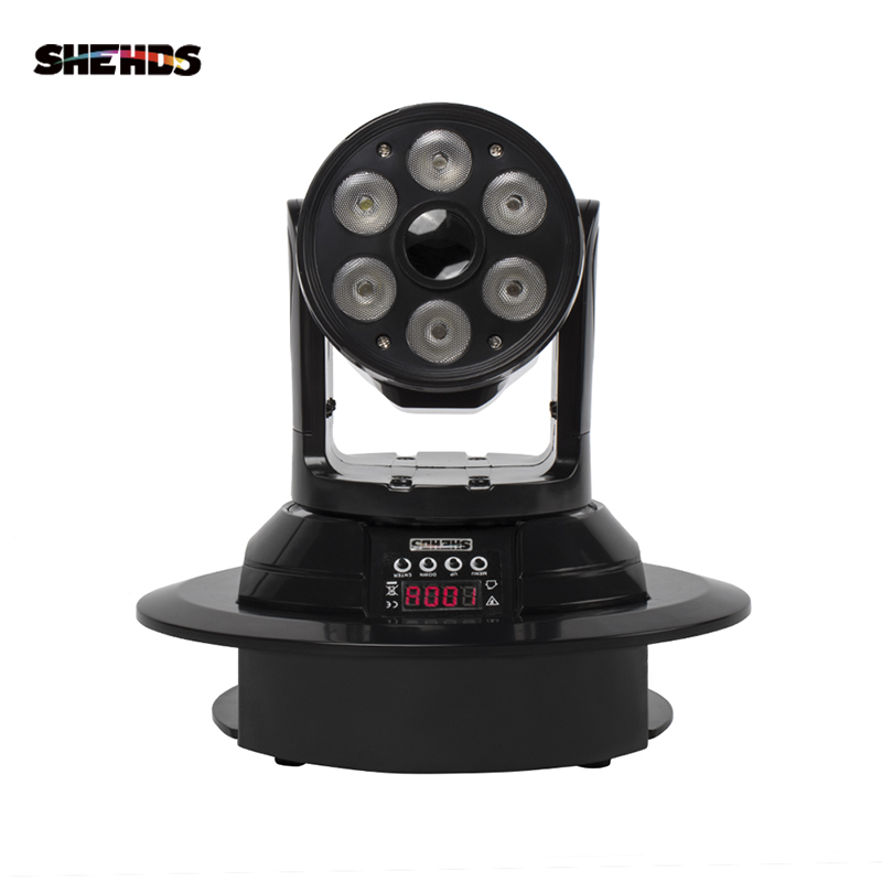 SHEHDS 80W LED 6+1 Wash And Spot Moving Head Lighting DMX512 RGBW 4in1  Professional DJ /Bar /Party /Show /Stage Light