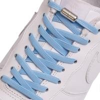 1 paire nouveau plat élastique verrouillage lacet sans cravate lacets spécial créatif enfants adulte unisexe baskets chaussures lacets cordes