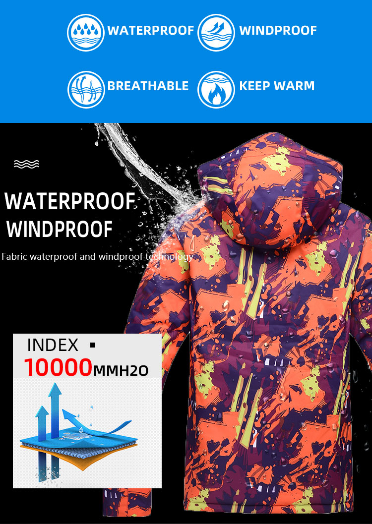 de vento-30 graus inverno snowboard casacos feminino