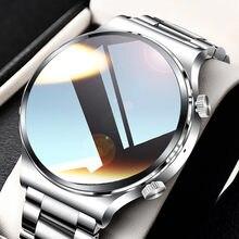 Reloj inteligente de lujo para hombre, deportivo, resistente al agua, IP68, con pantalla táctil, Bluetooth, llamadas, control del ritmo cardíaco, novedad de 2021