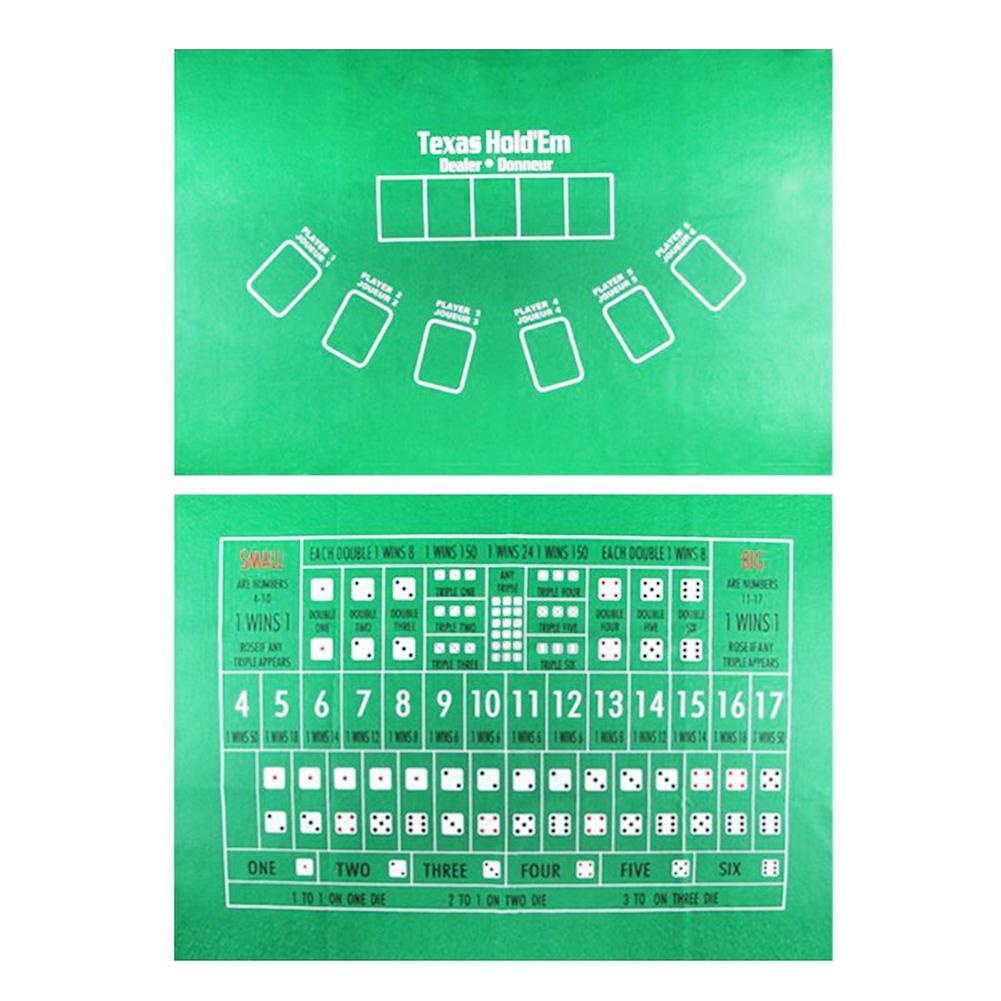 90x60 см TX холдем скатерть фланелевая 21 точка игральные кости Настольный коврик для казино семейвечерние Покер игры развлекательные игрушки настольные игры-1