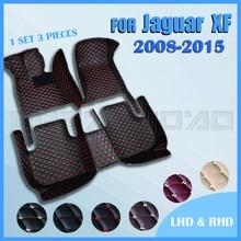 Esteiras do assoalho carro para jaguar xf sedan 2008 2009 2010 2011 2012 2013 2014 2015 personalizado pé almofadas