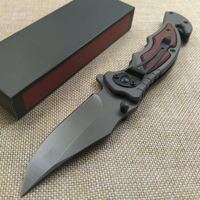 High Quality Damascus steel Folding Knife 8Cr14Mov Blade Rosewood Handle Camping Survival Knives Pocket Outdoor Hunting Knife 5