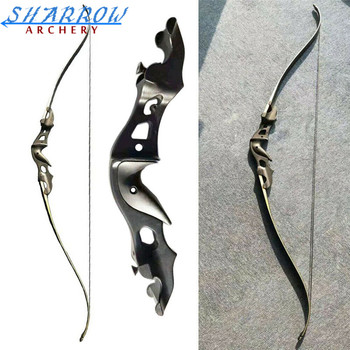 58 20-55lbs Archery Recurve Bow Takedown Aluminum Bow Riser Right Hand Hunting Bows For Hunting Fishing Shooting Targeting
