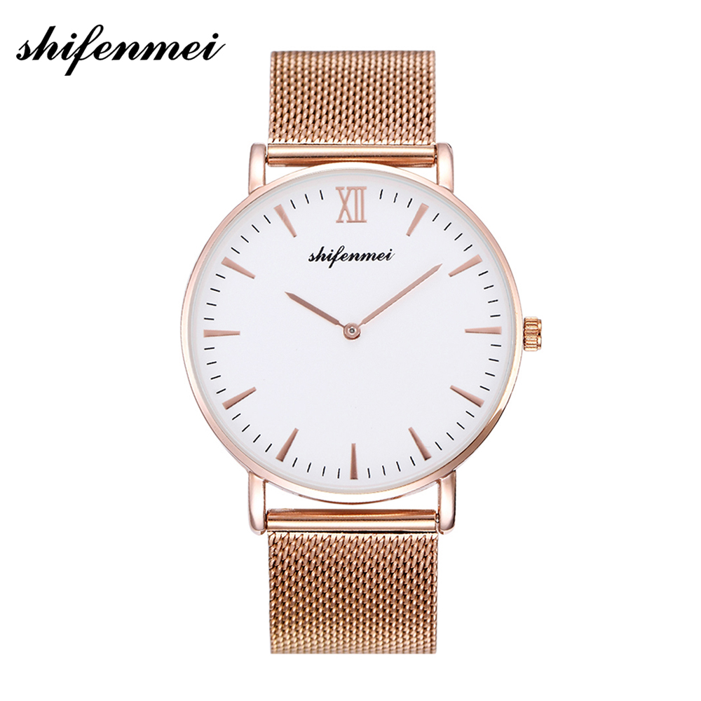 Women's Watch 2019 Top Brand Luxury Women Fashion Casual All Steel Ultra-Thin Mesh Belt Quartz Clock Relogio Feminino + Box