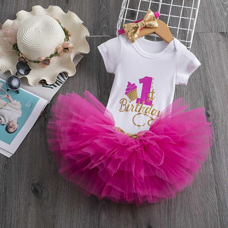 Primer traje de Año Nuevo de Navidad, trajes de cumpleaños para niñas pequeñas, 1 año de edad, Ropa para Niñas bebés, vestidos de Boutique