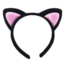 Adult Children ShortCute 3D Pointed Fox Cat Ears Headband Contrast Color Embroidered Party Cosplay Headwear 5 Colors(China)