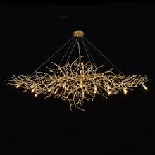 Phube Rami Lampadari di Cristallo di Luce di Illuminazione Artistico Gocce Dacqua Lampadario Luce di Colore Satinato Salone incluso paralume