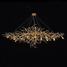 Phube aydınlatma sanatsal dalları kristal avizeler ışık su damlası avize ışığı renkli sırlı Salon dahil abajur