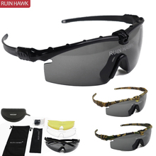 Military-Glasses Shooting-Goggles Tactical Protection Paintball Hiking Polarized 5-Lens