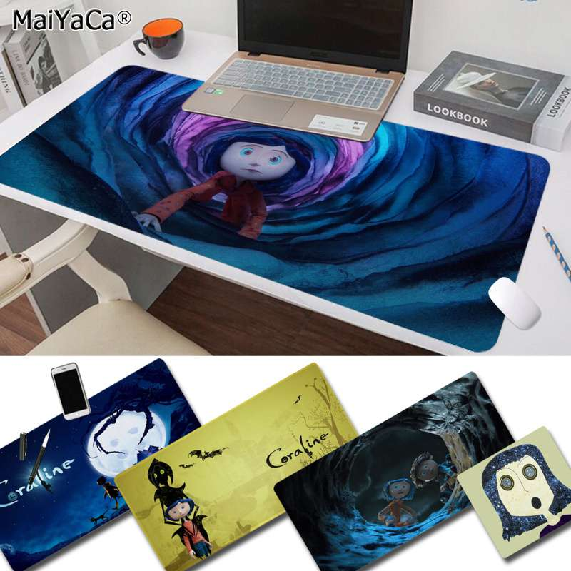 MaiYaCa Non Slip PC Coraline Office Mice Gamer Soft Mouse Pad Free Shipping Large Mouse Pad Keyboards Mat