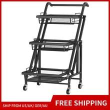 kitchen trolleys Storage Organizer Cart 3 Tier Mesh Wire Rolling Cart, Full Metal Basket Storage Art Trolley Carts