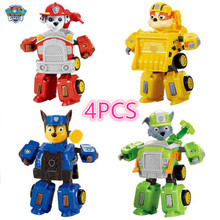 New paw patrol dog anime toy figurine plastic toy model variable action puppet model dog patrol toy children Christmas gift
