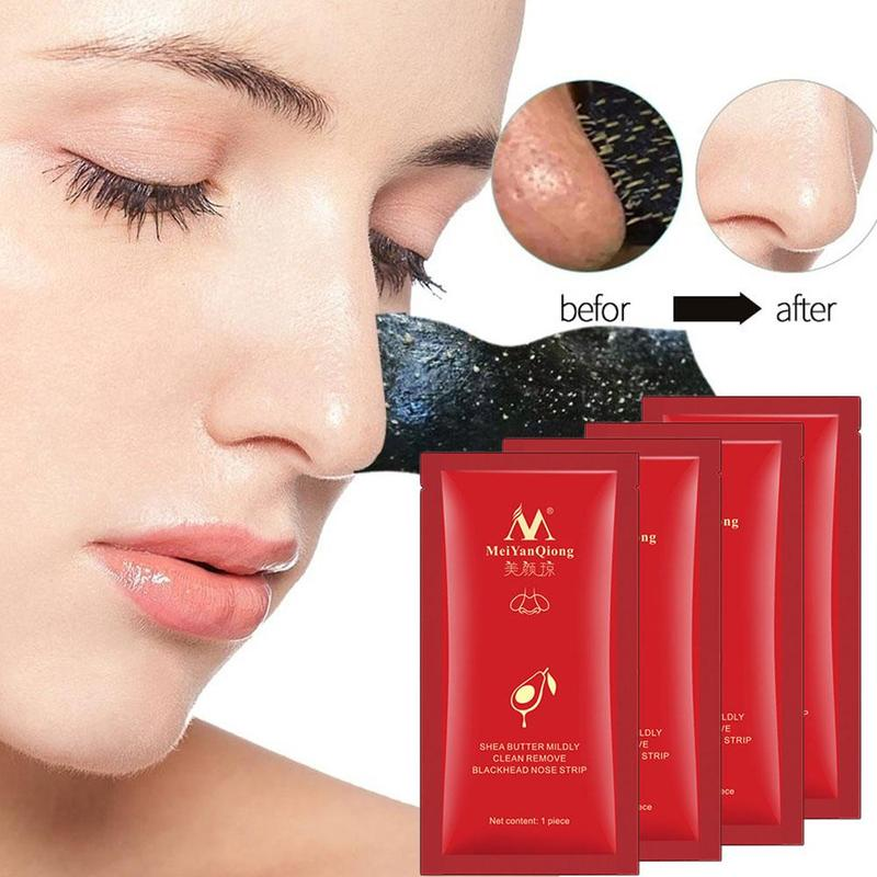 1pc Nose Strips Deep Cleansing Blackhead Remover Shrink Pores Black Nose Mask Acne Spot Treatment Nose Patches Skin Care Sticker