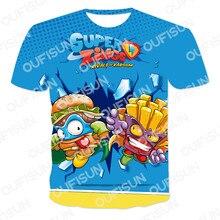 2021 novo jogo quente padrão 3dt camisa das crianças dos homens poliéster respirável malha harajuku grande super zings o-neck 110-6xl
