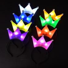 Headband Hair-Accessories Princess Tiara Light-Up Party-Supplies Crown Led-Flashing Glow